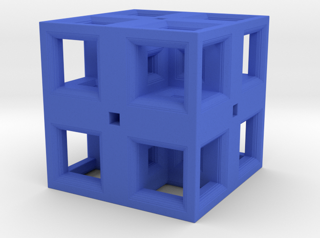 Low Poly Fractal Cube 20mm 3d printed