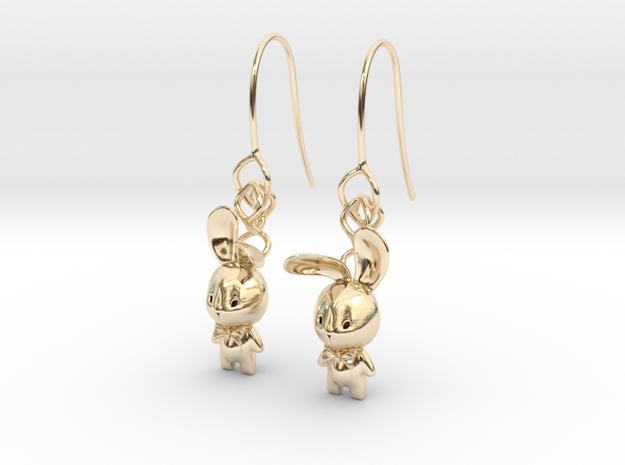 Bunny Earring in 14k Gold Plated Brass