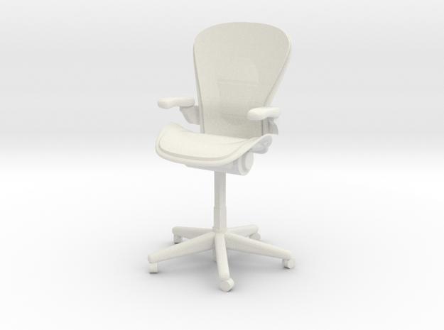 Miniature 1:12 Aeron Chair in White Natural Versatile Plastic