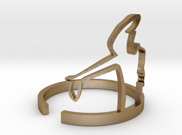 Cavandoli's Linea ring in Polished Gold Steel