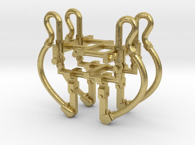 luchtslang hsm model 4x in Natural Brass