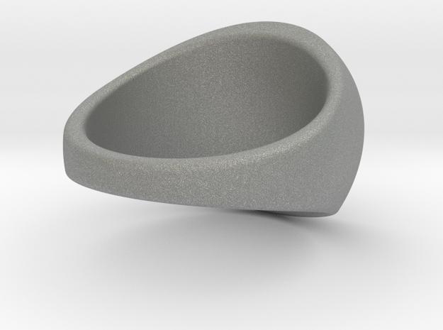 Custom Signet ring 99 in Gray PA12