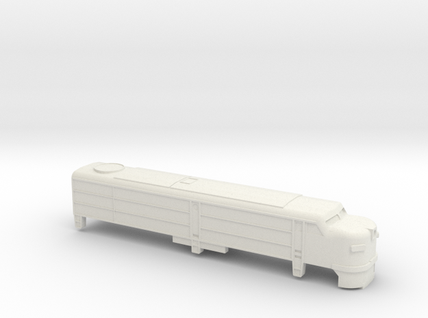 Alco FA-1 Shell T Scale (fit to 16 m chassis) in White Natural Versatile Plastic