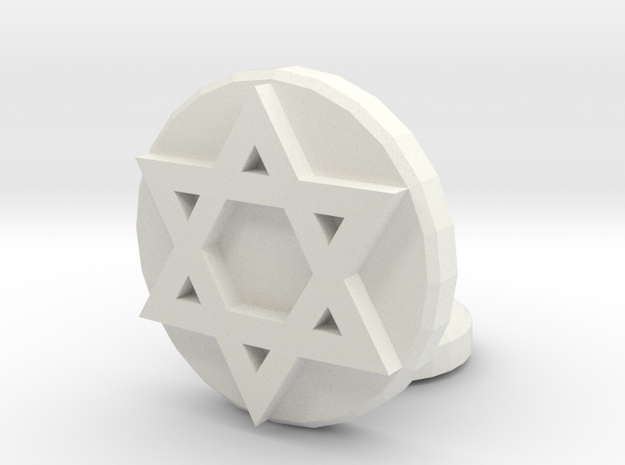Star of David in White Natural Versatile Plastic