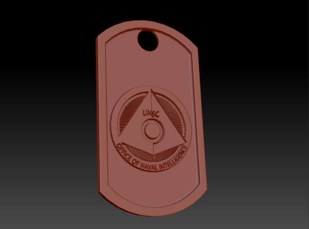 Halo ONI Office of Naval Intelligence Dog Tag in Natural Silver