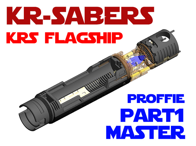 KRS Flagship - Master Chassis Part1 Proffie in White Natural Versatile Plastic