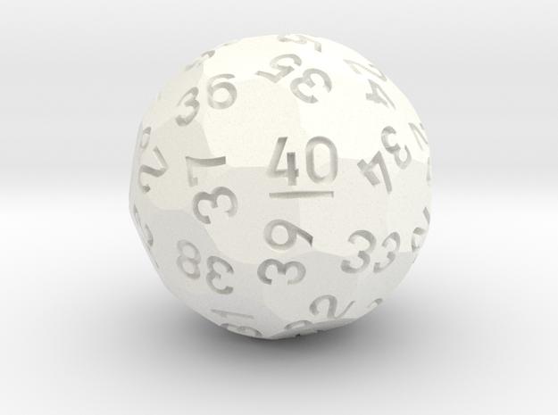 d40 (Spindown) in White Processed Versatile Plastic