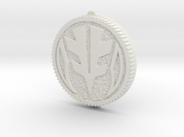 LC Morph Coin - White MMPR in White Natural Versatile Plastic