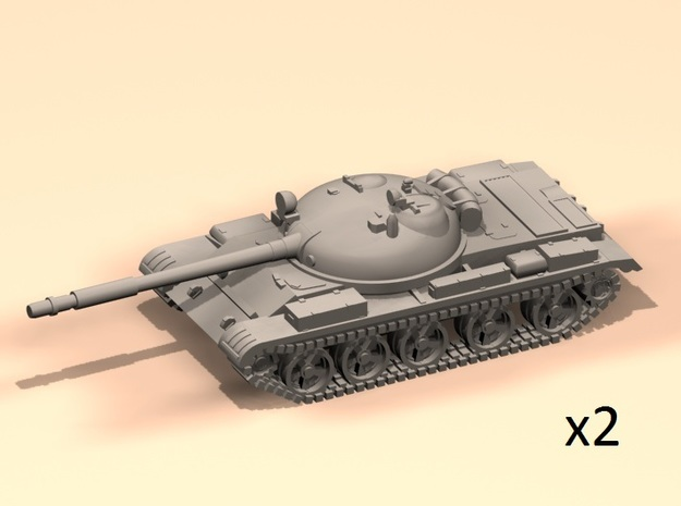1/160 T-62A tanks in Gray PA12
