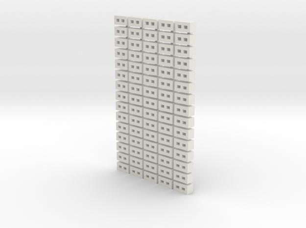 Cinder Block Loose 75 Pack 1-72 Scale in White Natural Versatile Plastic