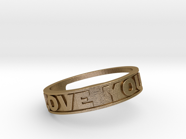 """""""I Love You""""&""""I know"""" ring (med.sizes 16mm to 22m)"""