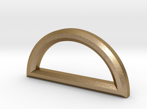 Semicircle Pendant in Polished Gold Steel