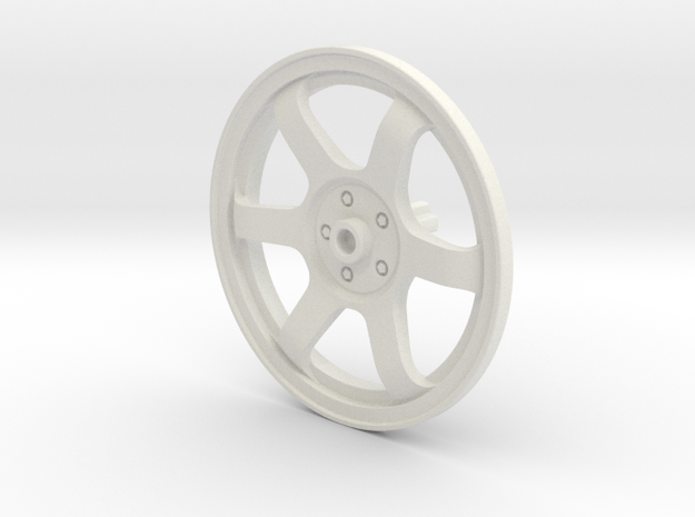 Wheel Cover 16_43.2mm_Axle in White Natural Versatile Plastic
