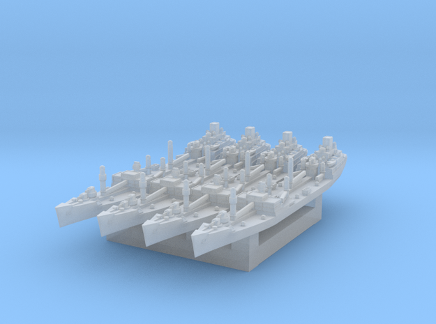 USS Platte Oiler (Axis & Allies) in Smooth Fine Detail Plastic