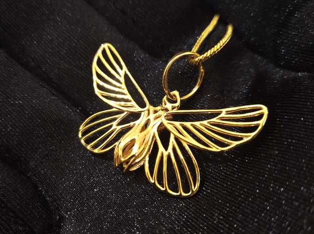 Papillon Butterfly pendant in 14k Gold Plated Brass