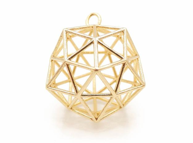 Conscious Crystal Pendant in Natural Brass