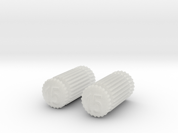 Pair of Dental Files in Smooth Fine Detail Plastic