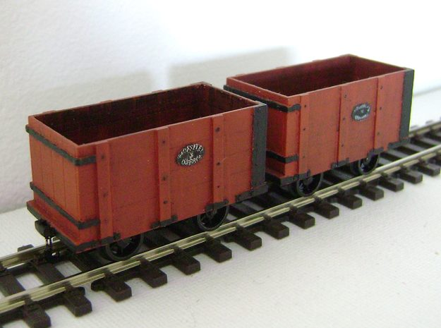 Oakeley Quarry Wagon 5.5mm Scale in Smooth Fine Detail Plastic