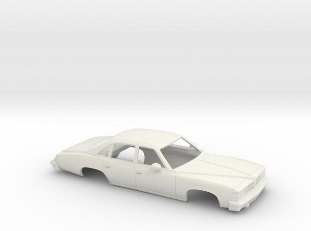 1/25 1976 Pontiac LeMans Sedan Shell in White Natural Versatile Plastic