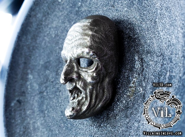 Halloween 3 WITCH Pendant ⛧VIL⛧ in Polished Bronzed-Silver Steel