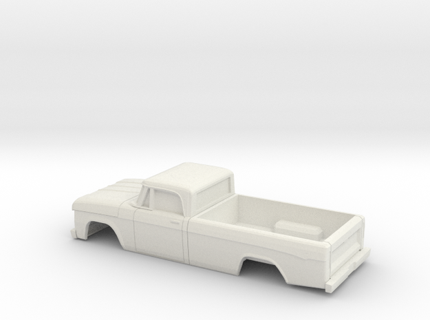 1/32 1961-65 Dodge PowerWagon RegCab Shell in White Natural Versatile Plastic