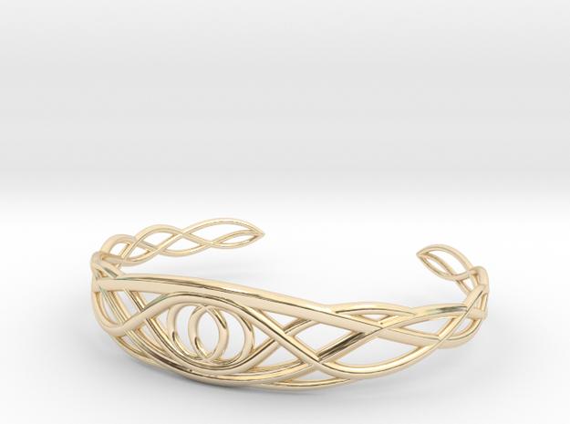 Tree of Eden Bracelet - Vesica Piscis in 14k Gold Plated Brass