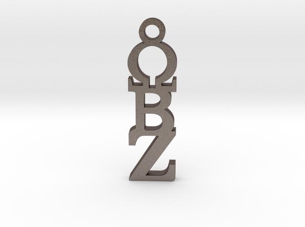 OBZ Sorority Pendant ⛧ VIL ⛧ in Polished Bronzed-Silver Steel