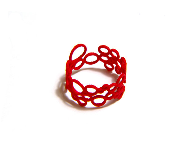 Soap-Opera Ring in Red Strong & Flexible Polished: 8.5 / 58