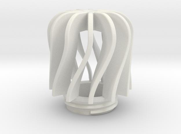 TeaC | Twist (12) *Lg in White Natural Versatile Plastic