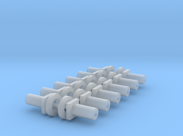 Bachmann N Scale - Chassis Fasteners & Washers x12 in Smooth Fine Detail Plastic