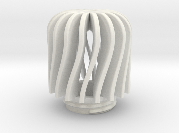 TeaC | Twist(18) *Lg in White Natural Versatile Plastic