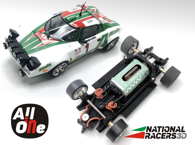 Chassis - Ninco Lancia Stratos (In AiO) in Black PA12