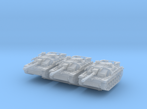 StuG III G late (x3) 1/200 in Smooth Fine Detail Plastic