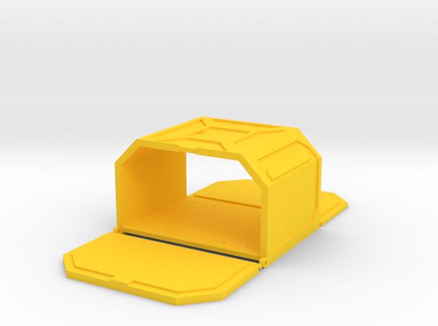 Starcom - Custom Pod 01 in Yellow Processed Versatile Plastic