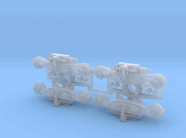 S Rockwell HS Trucks with S/A in Smooth Fine Detail Plastic