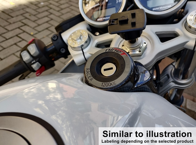 Ignition Lock Cover for BMW R nineT Pure in Aluminum