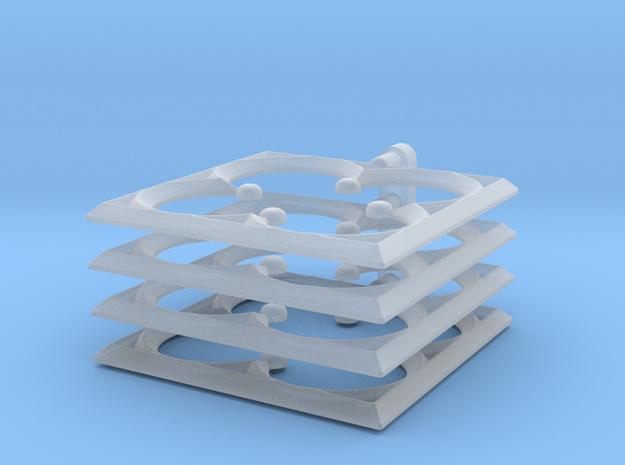 Quatrefoil_Smallest in Smooth Fine Detail Plastic