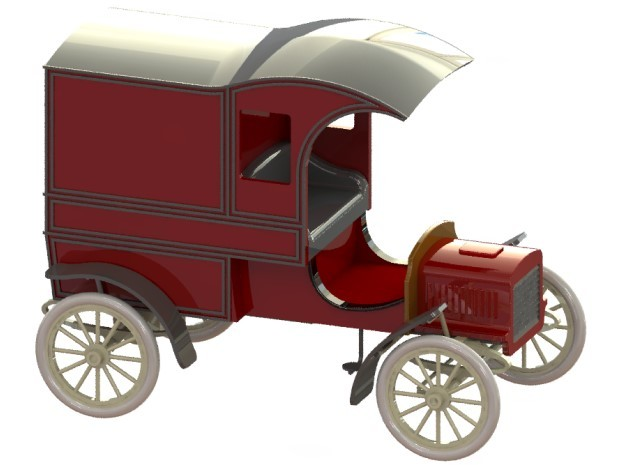Ford Model E Delivery 1905 1/32 in Smooth Fine Detail Plastic
