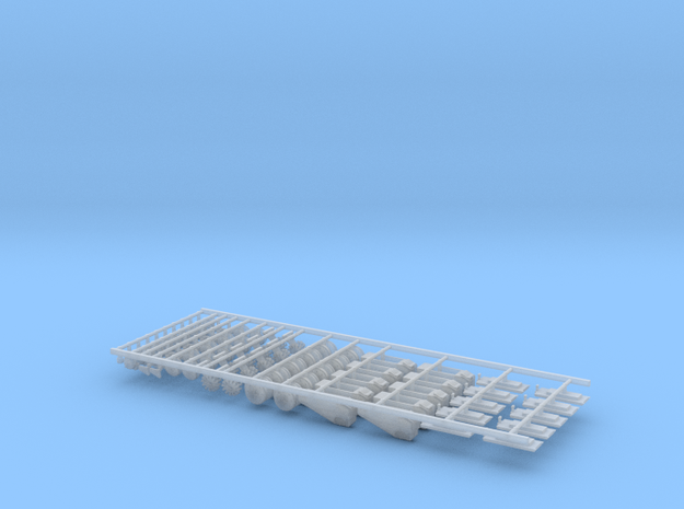 New 3bu JD Small Pieces (10) in Smooth Fine Detail Plastic
