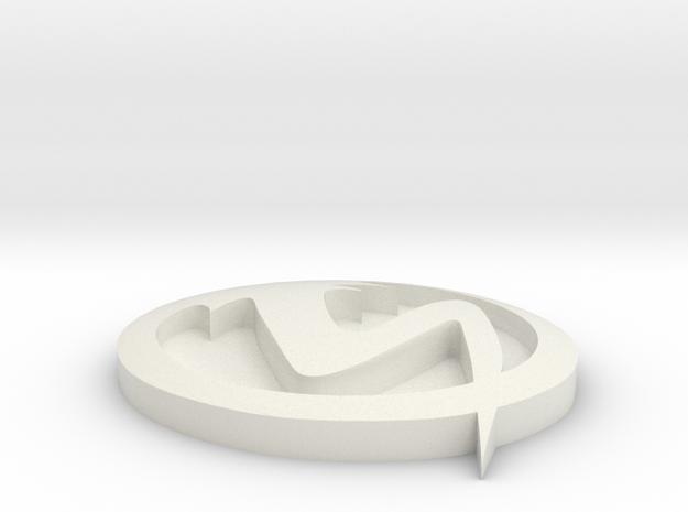 xs logo in White Natural Versatile Plastic