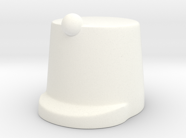 British Shako in White Processed Versatile Plastic