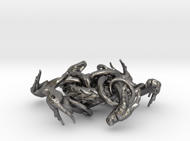 Dragon Pendant of the Six in Polished Nickel Steel