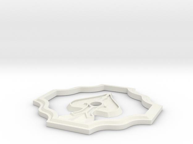 Resident Evil 2 Spade Door Badge in White Natural Versatile Plastic