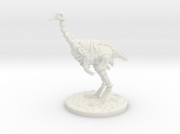 The Skeletal Ostrich mini in White Natural Versatile Plastic