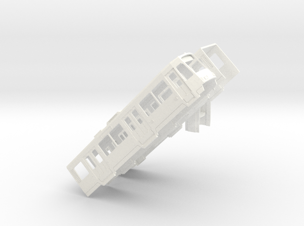 Gehäuse Rheinbahn 4200 Alu B-Wagen in White Processed Versatile Plastic