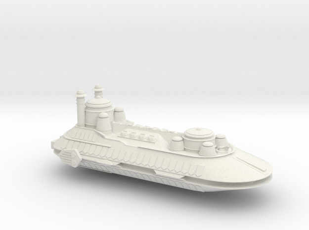 Hutt War Barge in White Natural Versatile Plastic