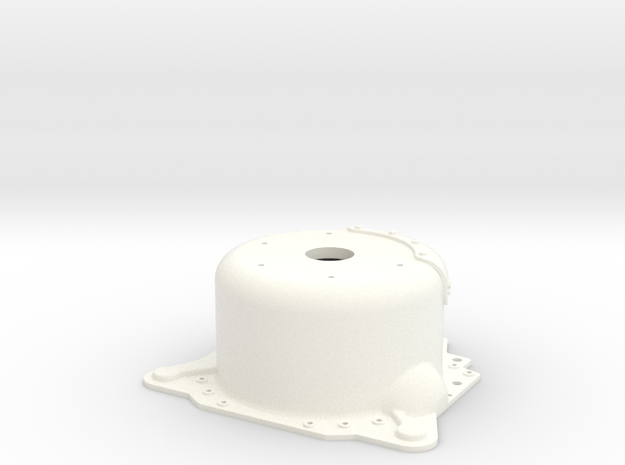 "1/12 Lenco 8.125"" Dp Bellhousing (With Starter Mnt in White Strong & Flexible Polished"