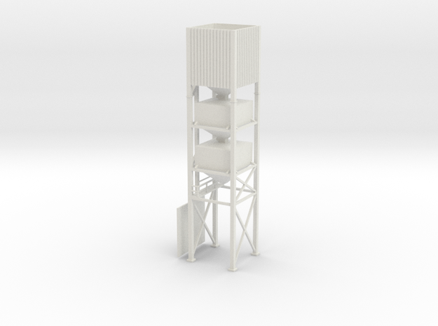 'S Scale' - Bulkweigher in White Natural Versatile Plastic