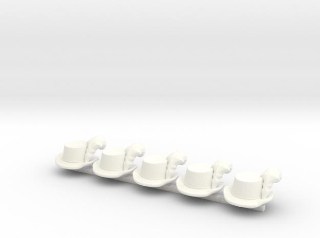 5 x k.k. Jaeger in White Processed Versatile Plastic