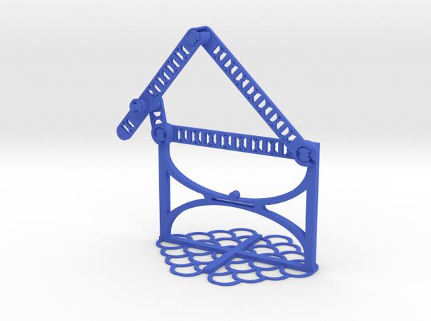 b: 4.67 c: 2.68 f: 4.36 CL: 0.30 CP: 3.02 in Blue Processed Versatile Plastic